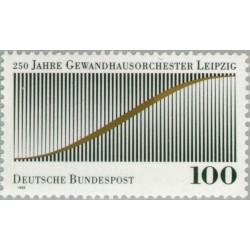 1 عدد تمبر 250مین سالگرد ارکستر لایپزیک - گوندهاوس - جمهوری فدرال آلمان 1993