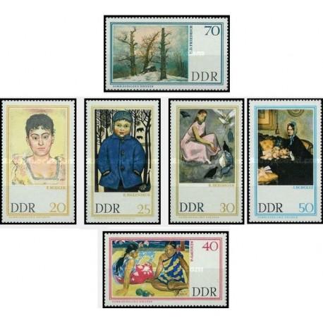 6 عدد تمبر تابلو نقاشی اثر نقاشان معروف در گالری درسدن - جمهوری دموکراتیک آلمان 1967