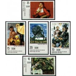 5 عدد تمبر تابلو نقاشی - جمهوری دموکراتیک آلمان 1974