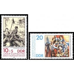 2 عدد تمبر نمایشگاه تمبر سوفیلکس 83 - جمهوری دموکراتیک آلمان 1983
