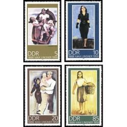 4 عدد تمبر صدمین سال تولد ماکس لینگر - تابلو - جمهوری دموکراتیک آلمان 1988