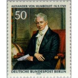 1 عدد تمبر الکساندر فون هامبولدت - برلین آلمان 1969