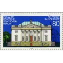 1 عدد تمبر 250مین سال اپرای دولتی برلین - جمهوری فدرال آلمان 1992