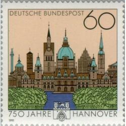 1 عدد تمبر 750 سالگی شهر هانور - جمهوری فدرال آلمان 1991