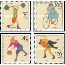 4  عدد تمبر ورزشی - جمهوری فدرال آلمان 1991 قیمت 7.8 دلار