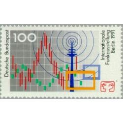 1 عدد تمبر نمایشگاه رادیوئی برلین - جمهوری فدرال آلمان 1991 قیمت 3.5 دلار