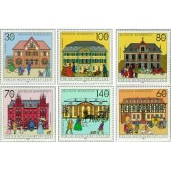 6 عدد تمبر خیریه - ساختمانها - جمهوری فدرال آلمان 1991 قیمت 11.4 دلار