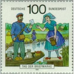 1 عدد تمبر روز تمبر - جمهوری فدرال آلمان 1991