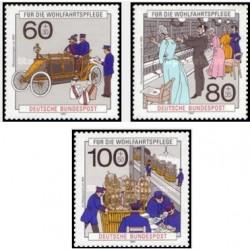 3 عدد تمبر خیریه تحویل پستی و ارتباط تلفنی - جمهوری فدرال آلمان 1990قیمت 5.4 دلار