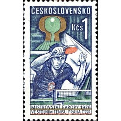 1 عدد تمبر مسابقات قهرمانی تنیس روی میز اروپا - چک اسلواکی 1976
