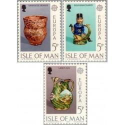 3 عدد تمبر مشترک اروپا - Europa Cept  - جزیره من 1976