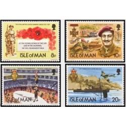 4 عدد تمبر 60مین سالگرد لژیون سلطنتی انگلیس -  جزیره من 1981