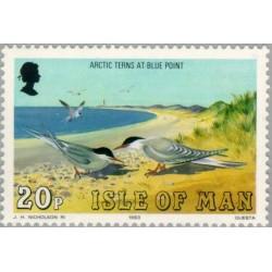 1 عدد تمبر سری پستی - مرغابیها -  جزیره من 1983