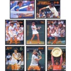 8 عدد تمبر تنیس بازان بین المللی - گرندین سنت وینسنت 1988 قیمت 6.3 دلار