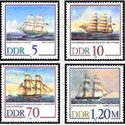 4 عدد تمبر کشتیهای بادبانی - جمهوری دموکراتیک آلمان 1988