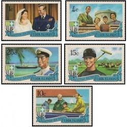 5 عدد تمبر بازدید سلطنتی - پرنس فیلیپ  - جزایر کوک 1971 قیمت 6.5دلار