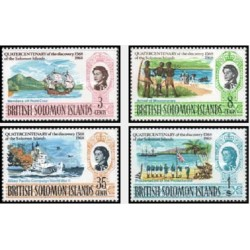 4 عدد تمبر 400مین سال کشف جزایر سلیمان - جزایر سلیمان 1968