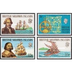 4 عدد تمبر کشتیها و ناخداها - جزایر سلیمان 1971 قیمت 7.4 دلار