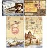 4 عدد تمبر صدمین سال پست هوائی-نمایشگاه تمبر ایندیپکس - هندوستان 2011