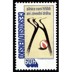1 عدد تمبر امنیت جاده - چک اسلواکی 1978
