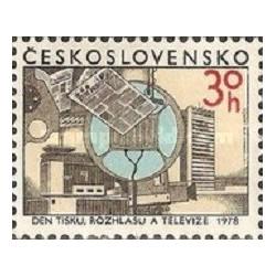 1 عدد تمبر روز خبرنگار -  چک اسلواکی 1978