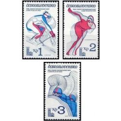 3 عدد تمبر بازیهای المپیک زمستانی لیک پلاسید -  چک اسلواکی 1980