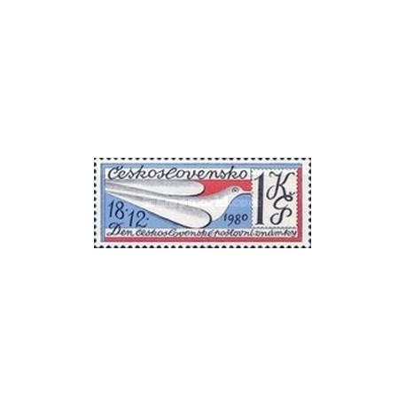 1 عدد تمبر روز تمبر  -  چک اسلواکی 1980