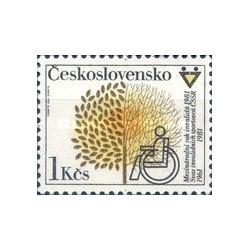 1 عدد تمبر سال بین المللی معلولین  -  چک اسلواکی 1981