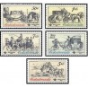 5 عدد تمبر کالسکه های قدیمی  -  چک اسلواکی 1981