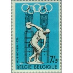1 عدد تمبر بازیهای المپیک مونیخ آلمان - بلژیک 1971