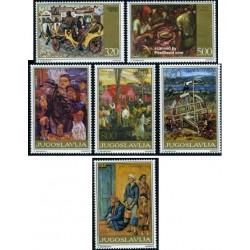 6 عدد تمبرتابلو نقاشی - یوگوسلاوی 1975
