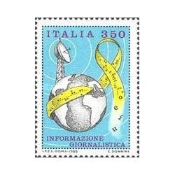 1 عدد تمبر اطلاعات روزنامه نگاری - ایتالیا 1985