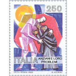 1 عدد تمبر مشکلات مدرن افراد سالمند - ایتالیا 1985