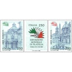 3 عدد تمبر نمایشگاه بین المللی تمبر ایتالیا ، رم - ایتالیا 1985