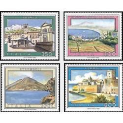 4 عدد تمبر تبلیغات توریسم - تابلو نقاشی - ایتالیا 1985 قیمت 7.7 دلار