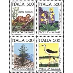 4 عدد تمبر حفاظت از محیط زیست - ایتالیا 1985 قیمت 4.8 دلار