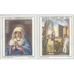 2 عدد تمبر هنر ایتالیائی - تابلو نقاشی - ایتالیا 1985 قیمت 3 دلار