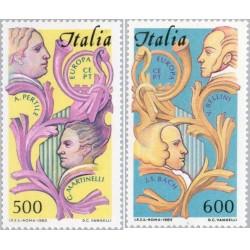2 عدد تمبر مشترک اروپا - Europa Cept - ایتالیا 1985 قیمت 19 دلار
