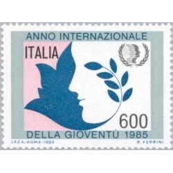 1 عدد تمبر سال بین المللی جوانان - ایتالیا 1985 قیمت 2.4 دلار