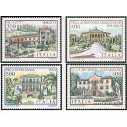 4 عدد تمبر ساختمانهای مشهور - ایتالیا 1985 قیمت 11.3 دلار