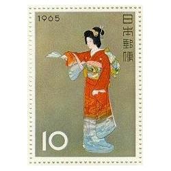 1 عدد تمبر هفته تمبرشناسی - فیلاتلی - ژاپن 1965