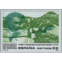 1 عدد تمبر پنجاه سالگی ارکستر ملی اسپانیا - اسپانیا 1990