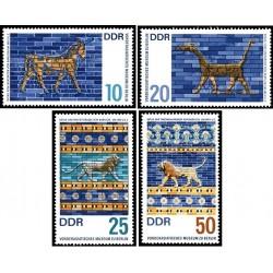 4 عدد تمبر موزه ها - هنرهایی از بابل -  جمهوری دموکراتیک آلمان 1966