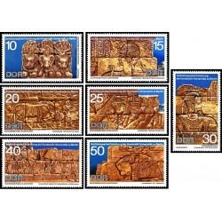 7 عدد تمبر کاوشهای باستان شناسی در سودان -  جمهوری دموکراتیک آلمان 1970