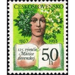 1 عدد تمبر 125مین سال انجمن فرهنگی اسلواکی -  چک اسلواکی 1988