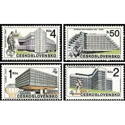 4 عدد تمبر 88مین نمایشگاه بین المللی تمبر پراگ - پراگ امروزی -  چک اسلواکی 1988