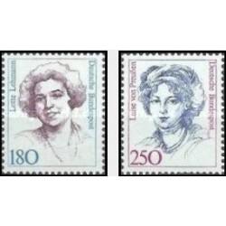 2 عدد تمبر زنان نامدار  - جمهوری فدرال آلمان 1989 قیمت 7.6 دلار