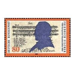 1 عدد تمبر صدمین سال تولد فردریش شیلر - آهنگساز  - جمهوری فدرال آلمان 1989