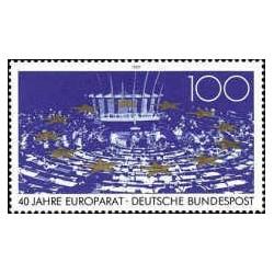 1 عدد تمبر چهلمین سالروز شورای اروپا - جمهوری فدرال آلمان 1989