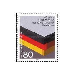 1 عدد تمبر یکپارچه سازی پناهندگان - جمهوری فدرال آلمان 1985